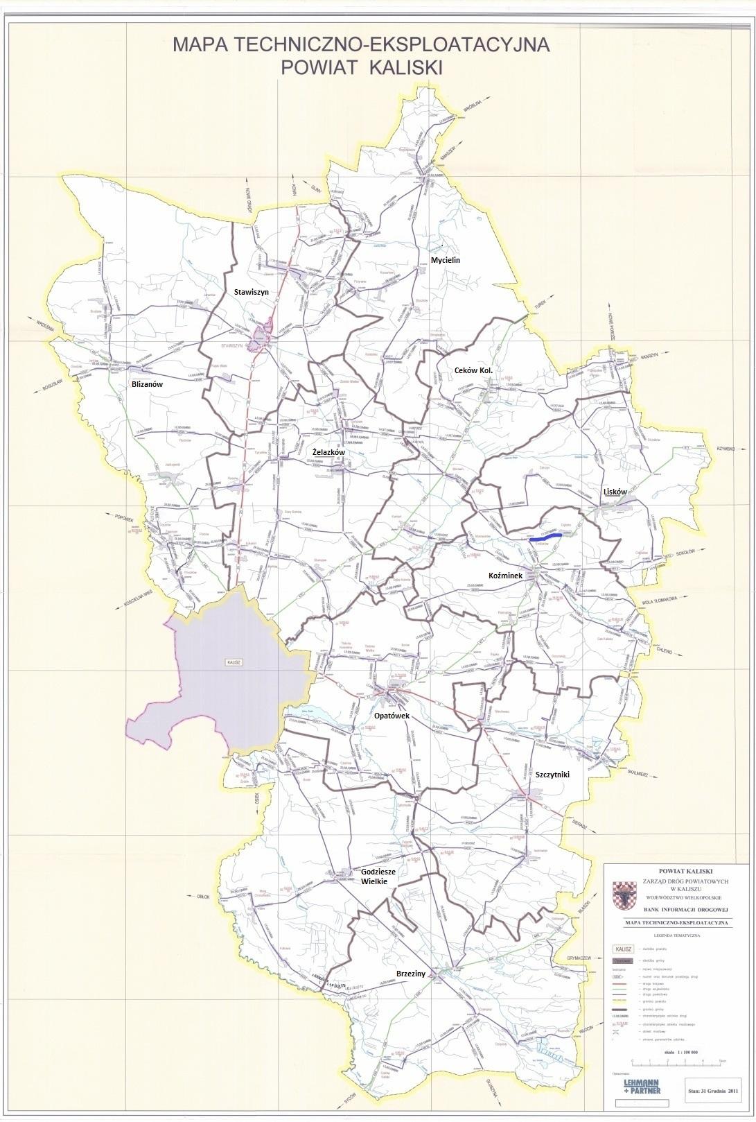 Mapa Powiatu Kaliskiego