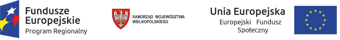 loga Funduszy Europejskich, Samorządu Województwa Wielkoopolskiego i Unii Europejskiej